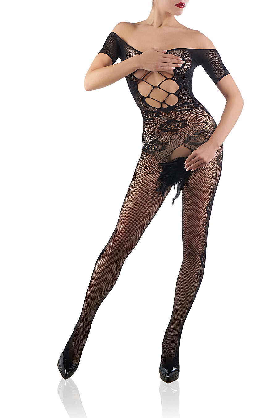 """Эротический комбинезон с вырезом в зоне бикини """"Последнее танго в Париже"""" LE CABARET (307882), купить в Moyo.moda"""