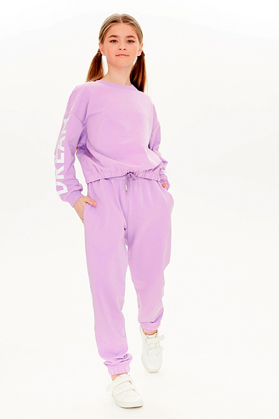 Брюки для девочек UMKA 321814 купить оптом от производителя. Совместная покупка детской одежды в OptMoyo