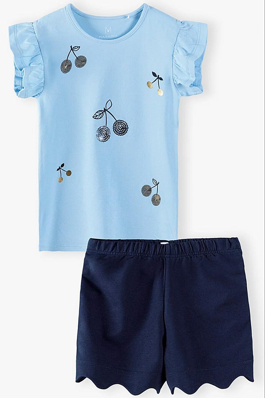 Костюм (Шорты+Футболка) для девочек 5.10.15 668476 купить оптом от производителя. Совместная покупка детской одежды в OptMoyo
