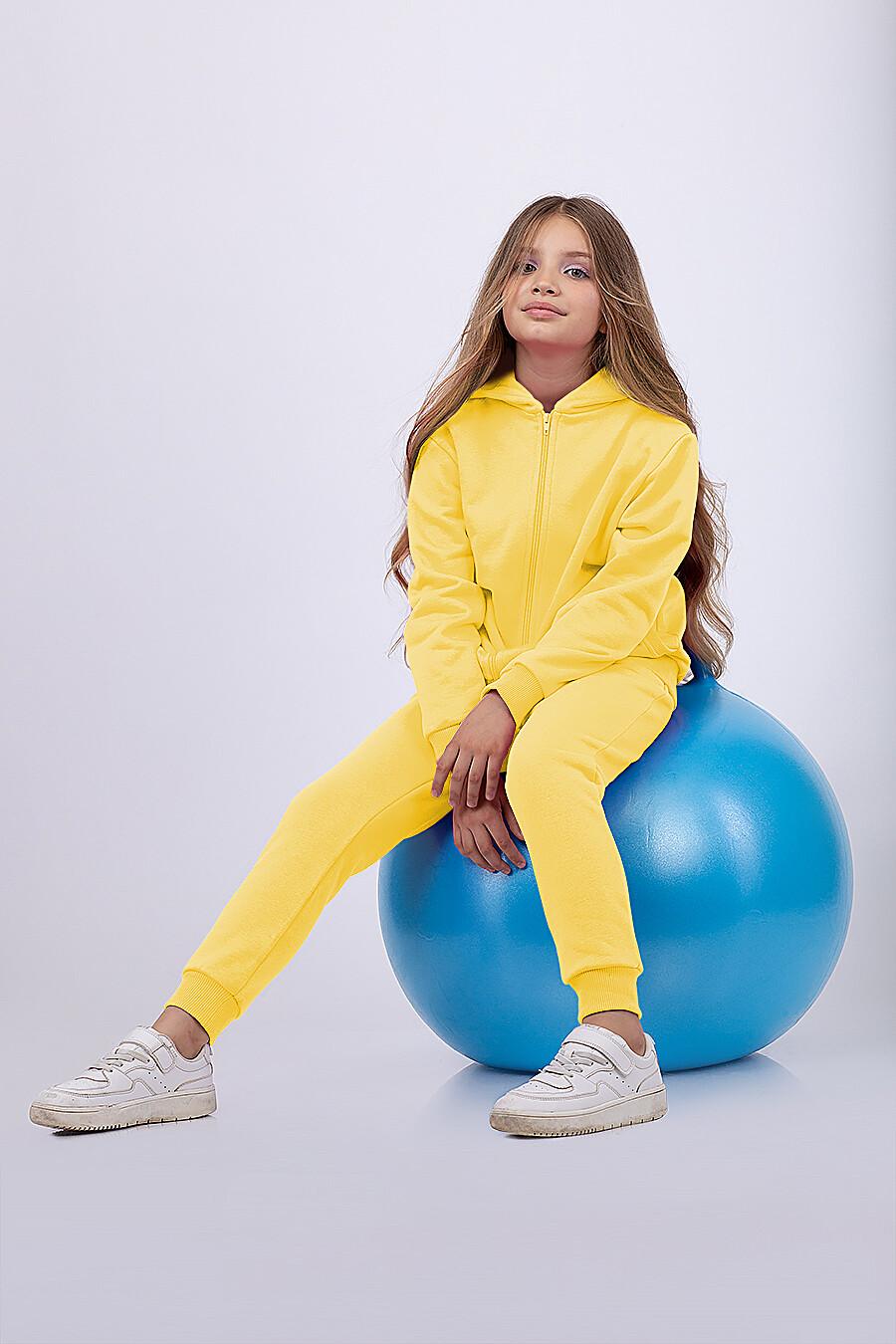 Костюм(Толстовка+Брюки) для девочек EZANNA 682396 купить оптом от производителя. Совместная покупка детской одежды в OptMoyo