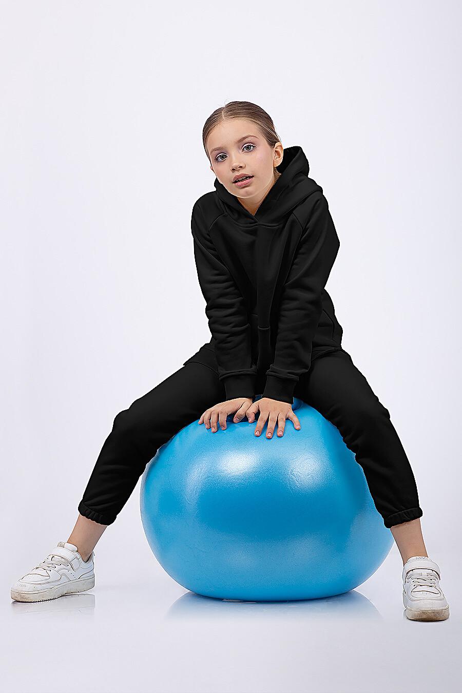 Костюм(Худи+Брюки) для девочек EZANNA 682411 купить оптом от производителя. Совместная покупка детской одежды в OptMoyo
