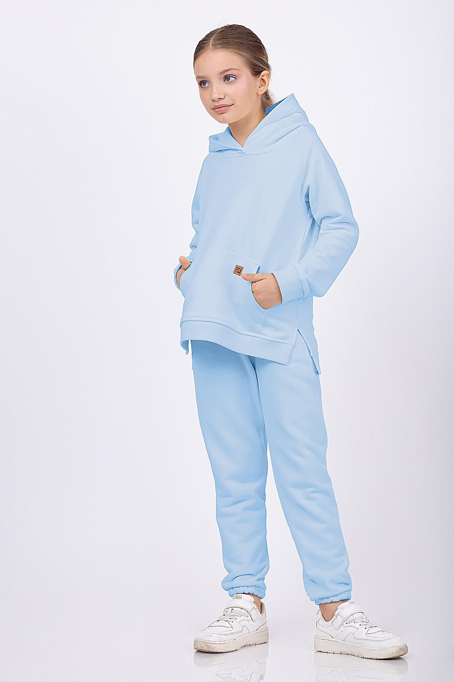 Костюм(Худи+Брюки) для девочек EZANNA 682429 купить оптом от производителя. Совместная покупка детской одежды в OptMoyo