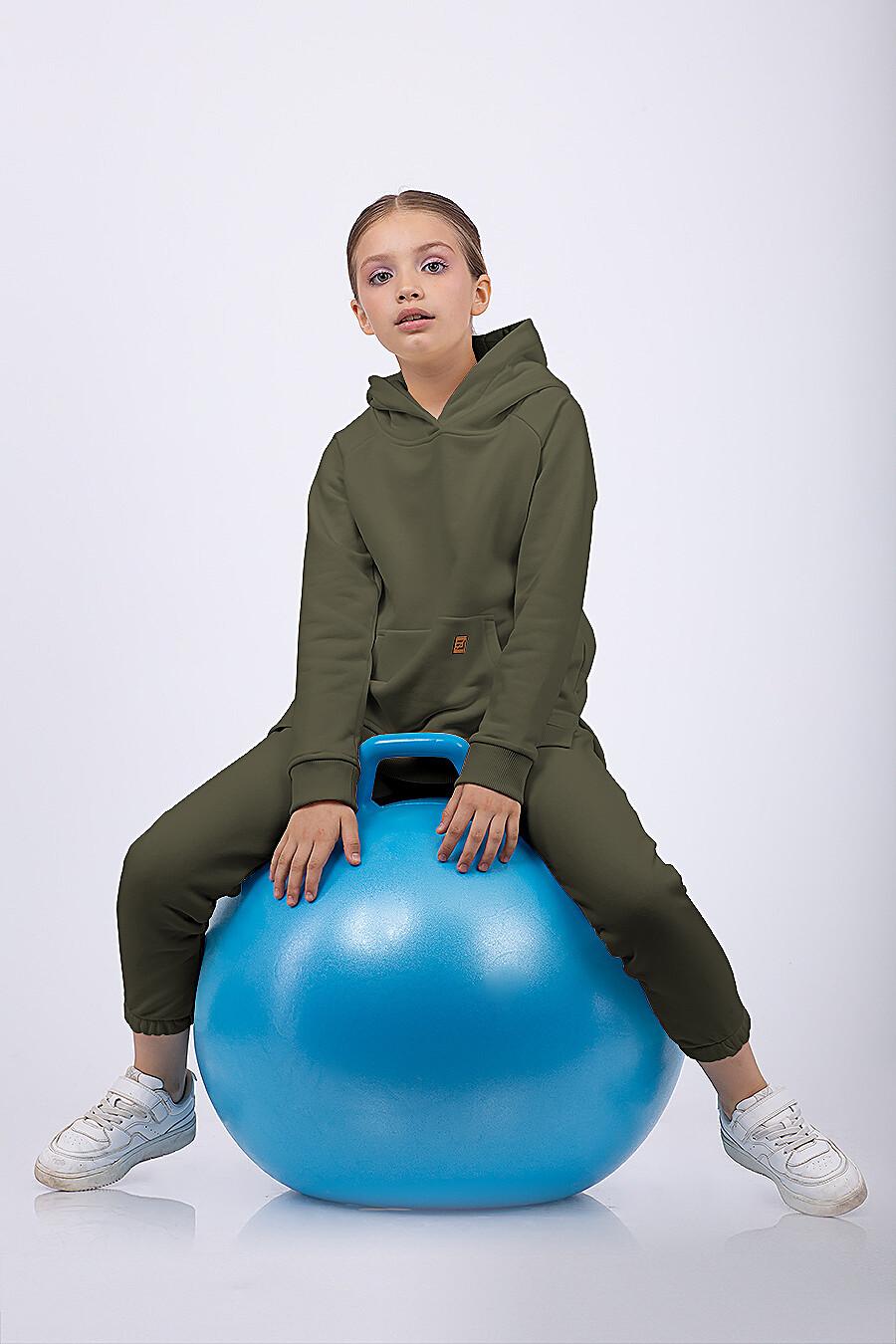 Костюм(Худи+Брюки) для девочек EZANNA 682537 купить оптом от производителя. Совместная покупка детской одежды в OptMoyo