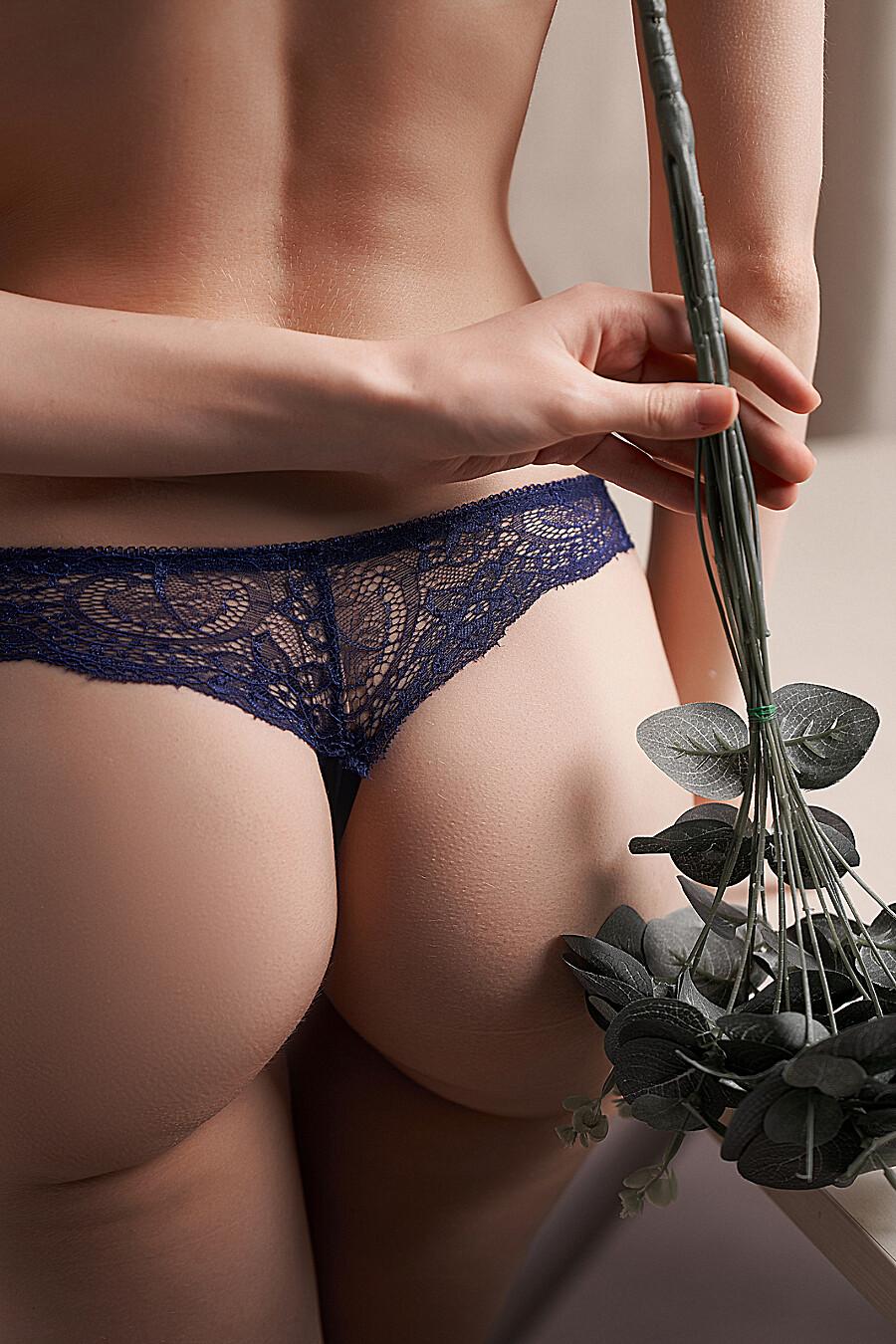 """Бесшовные трусики-стринги с кружевом женские трусики """"Призрачная красота"""" LE CABARET (699643), купить в Moyo.moda"""