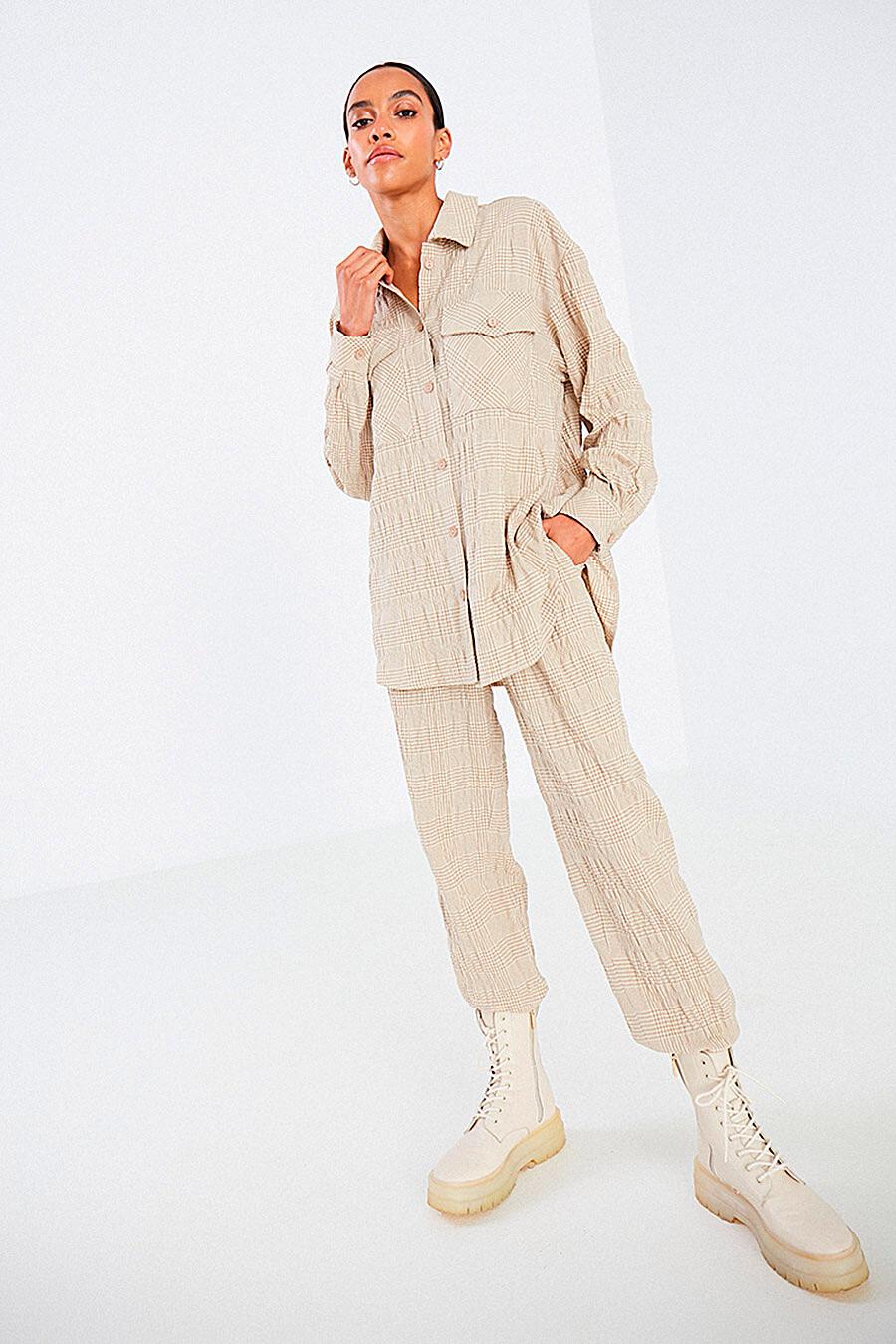 Костюм (Рубашка+Брюки) для женщин DELIA 700030 купить оптом от производителя. Совместная покупка женской одежды в OptMoyo