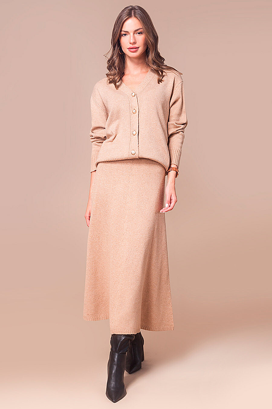 Юбка для женщин VILATTE 700243 купить оптом от производителя. Совместная покупка женской одежды в OptMoyo