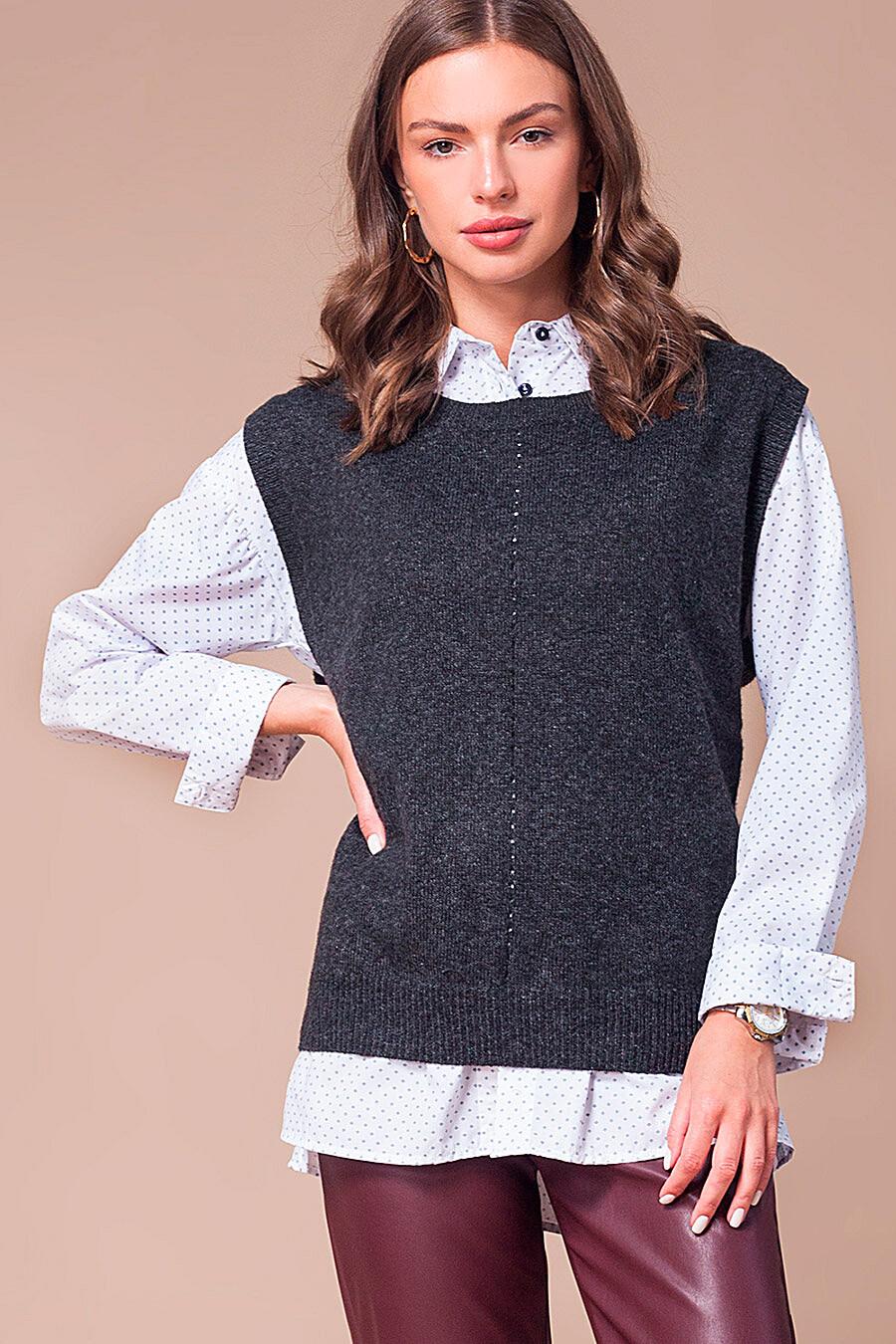 Жилет для женщин VILATTE 700255 купить оптом от производителя. Совместная покупка женской одежды в OptMoyo