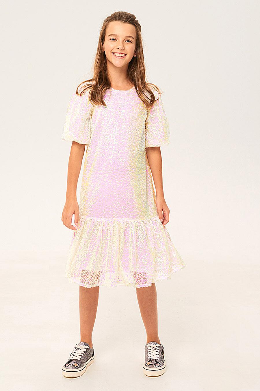 Платье для девочек IN FUNT 708028 купить оптом от производителя. Совместная покупка детской одежды в OptMoyo