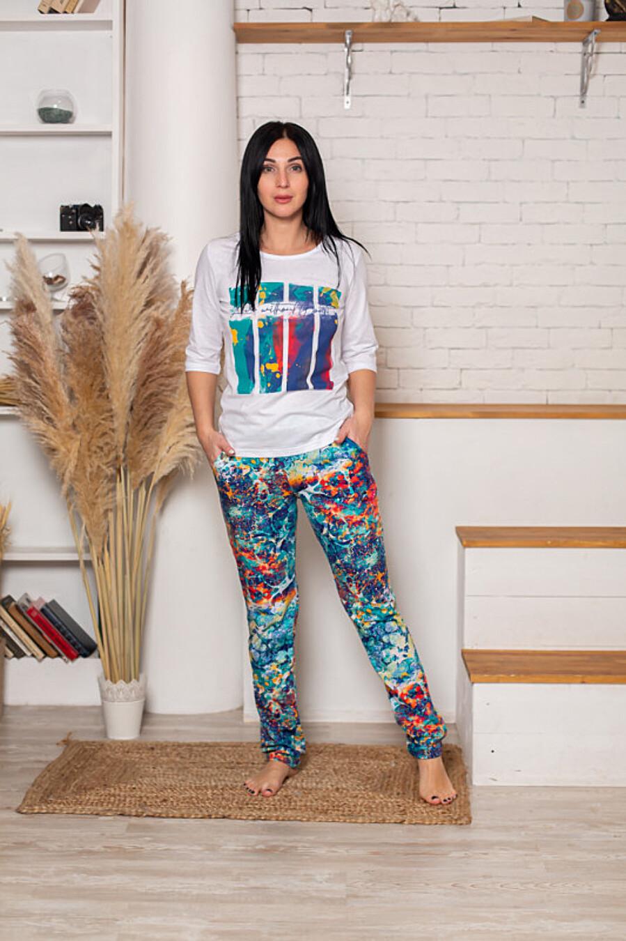 Костюм (футболка+брюки) для женщин SOFIYA37 708049 купить оптом от производителя. Совместная покупка женской одежды в OptMoyo